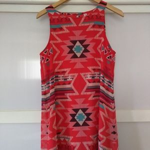 Xhiliration Medium Pink Geometric Shift Dress